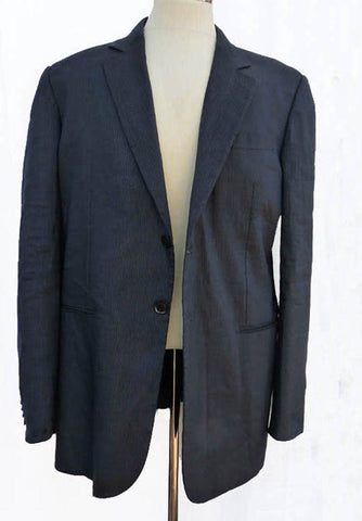giorgio armani blazer ink linen blend 46R 2 button