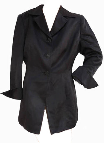 badgley mischka black jacket size M evening day