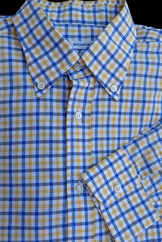battistoni long sleeve plaid check shirt 16