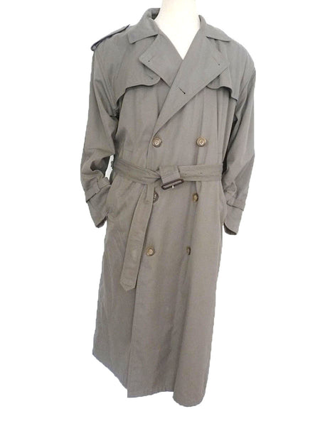 brooks bros gray trench coat belted