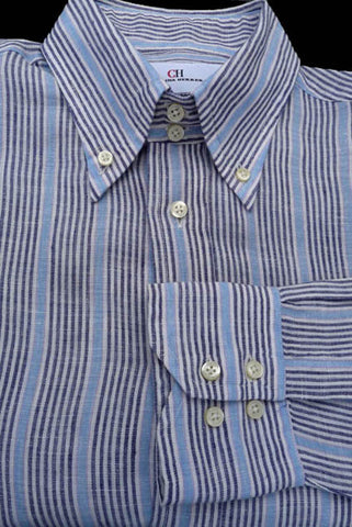carolina herrara shirts striped size 16