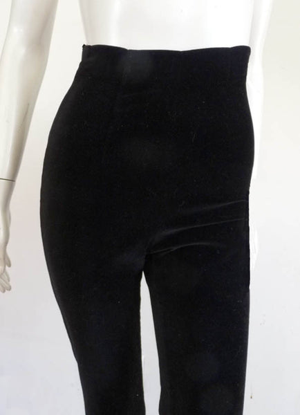 Chantal Thomass Avant Garde Black pants High waist Sz 6 Flare Button legs