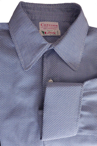 cuzzens shirt blue on blue 16 French cuffs