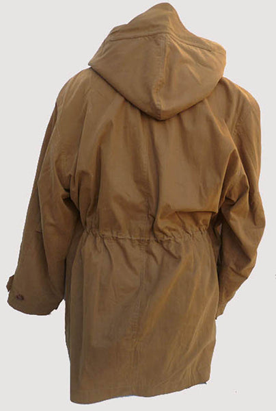 Hooded mens khaki jacket Daniel Cremieux M Removable lining lots pockets