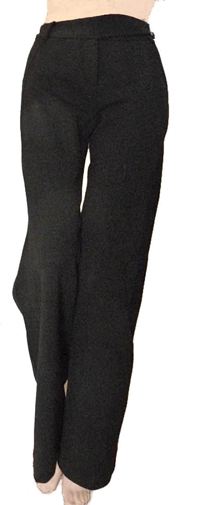 diane von furstenberg black wool sz 4 slacks pants wool