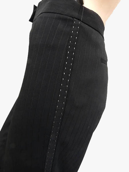 Elie Tahari pants NWT black Size 10 Patty Pant Flare leg Saks Fifth