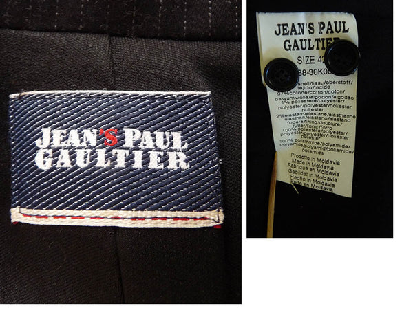Jean Paul Gaultier Corset black Jacket S - M Black cotton Stripe Button Front blazer