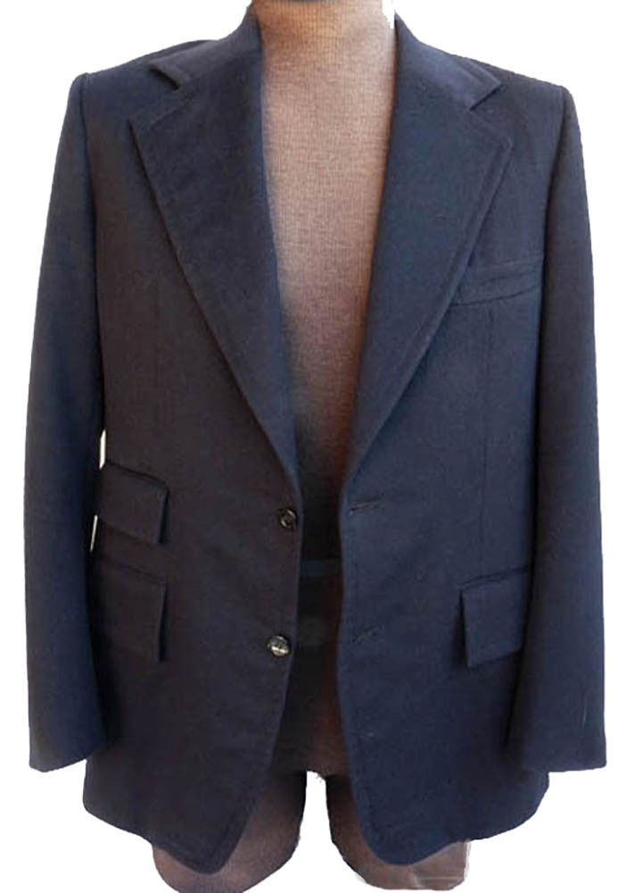 Mr Guy Blazer sportcoat Blazer Black Roma style Single Breast Wide lapels