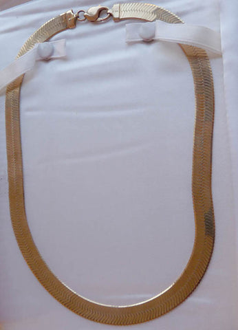 herringbone necklace 10k yellow gold