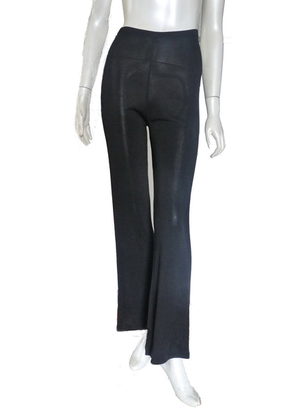 Herve Leger black Pants Sexy Size S Stretch Pullon Flare legs Italy
