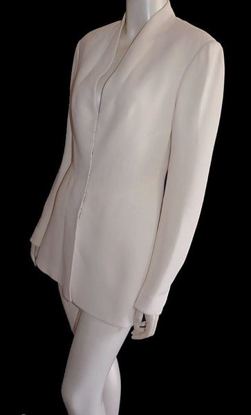 Herve Leger Tailored Jacket Designer Sz 38 US 6 Hidden front closure France