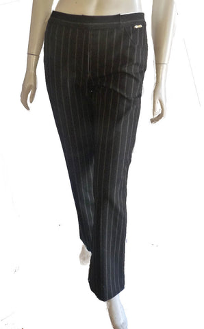 st john black striped pants