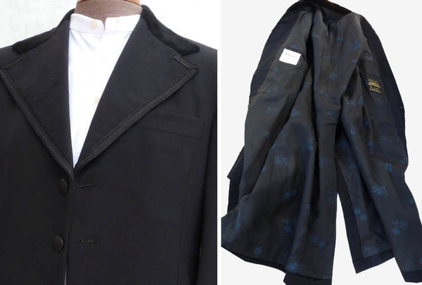 SOLD OUT Lord West Prince Edward Tuxedo Tails Black 38 L Vintage 1928 Braid lapels