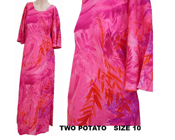 hot pin maxi hawaiian dress mu muu
