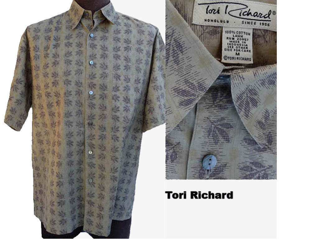 tori richard short sleeve haswiian shirt cotton