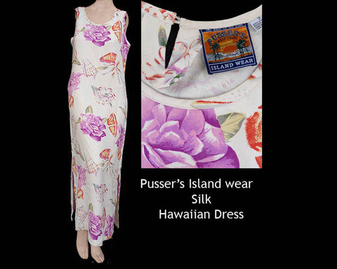 pussers island wear floral hawaiian dress