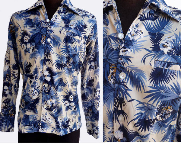 da vinci long sleeve hawaiian shirt tigers szm