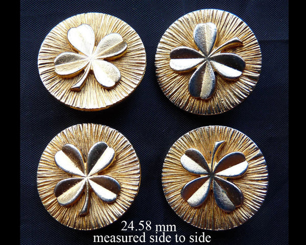 Chanel Cloverleaf Rare gold metal buttons