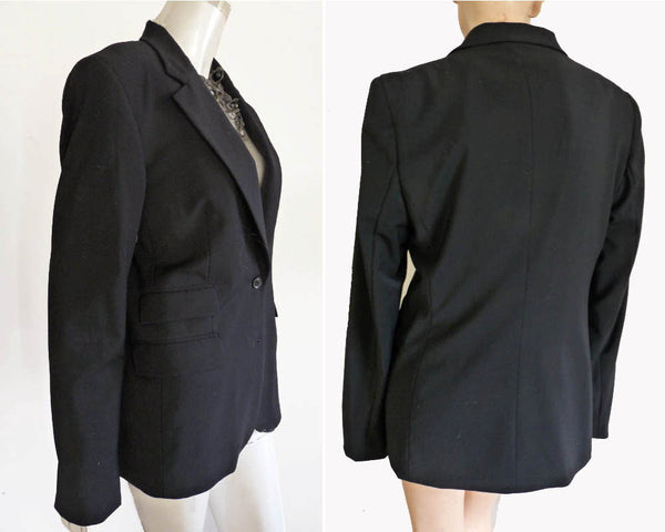 Gucci Uniform jacket Black Button front Black SB button blazer Euro size 44