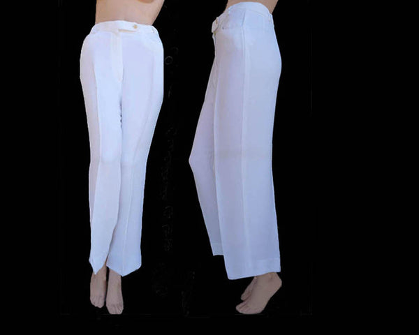giorgio armani white pants sz 4 6 cropped
