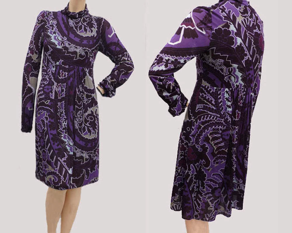 patrizia pepe purple abstract print  dress