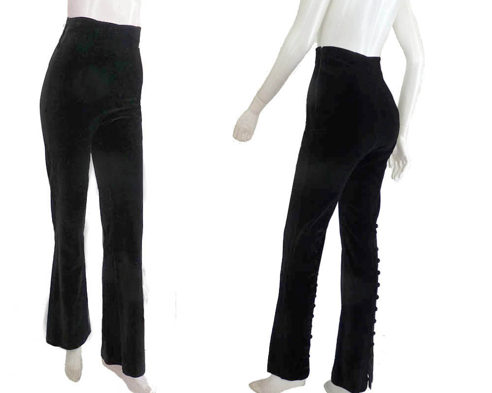 chantal thomass black pants Sz 6 avant garde
