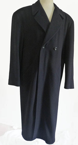 doris hardwich black coat sz 46 double breasted