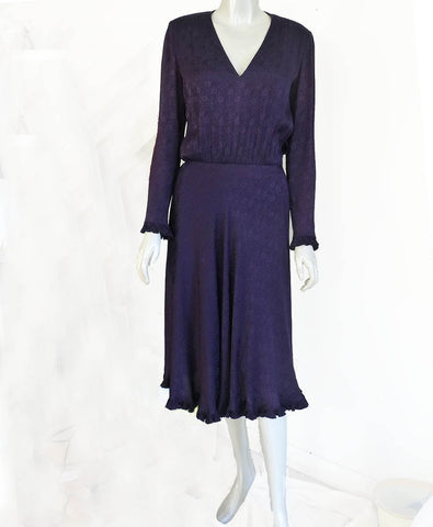 purple albert nipon dress