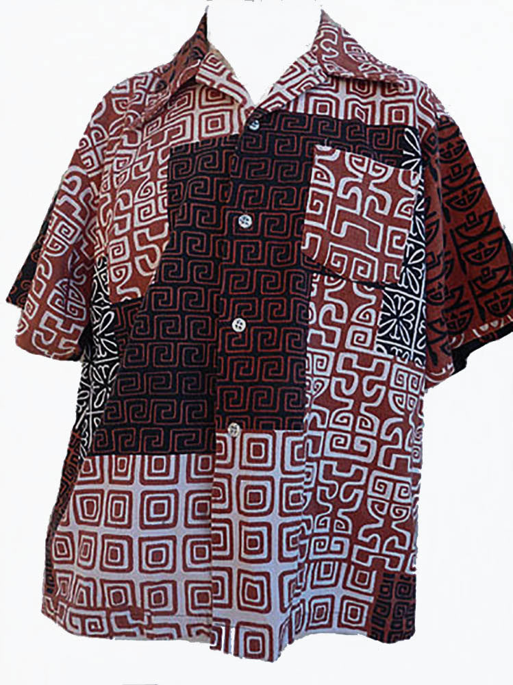 Mens Hawaiian Collection Yiki  Shirt Spectrum Graphic  Vintage Button Short sleeves XL Combed Cotton