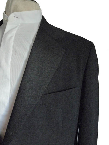 Vintage 1970s Tuxedo Dinner jacket Givenchy Monsieur Black 42 Formal Union Made USA