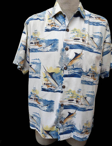 guy harvey hawaiian shirt short sleeves