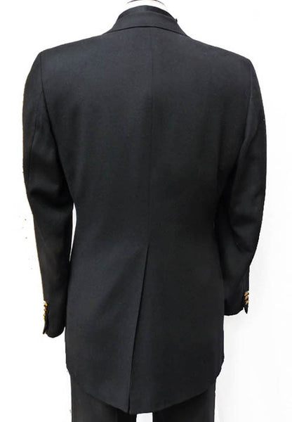 Lanvin Dinner blazer Vintage 1970s 80s Black SB 2 button Sz 38 Elegant Gold buttonsetal buttons Union Made