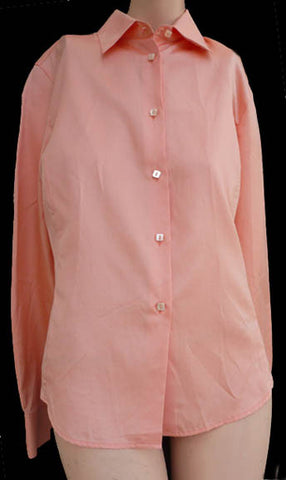 loro piana top blouse silk cotton euro 42 peach