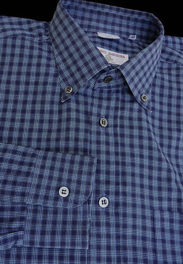 luciano barbera shirt button down collar 16 neck