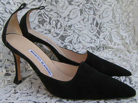 8cf376514547 MANOLO BLAHNIK Shoes Black heels Ankle straps US 6 Euro 36 – Griffengarb