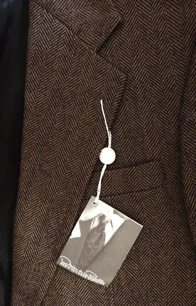 Oscar de la Renta NWT Blazer 40 R Sportcoat Brown Herringbone Tailored collection
