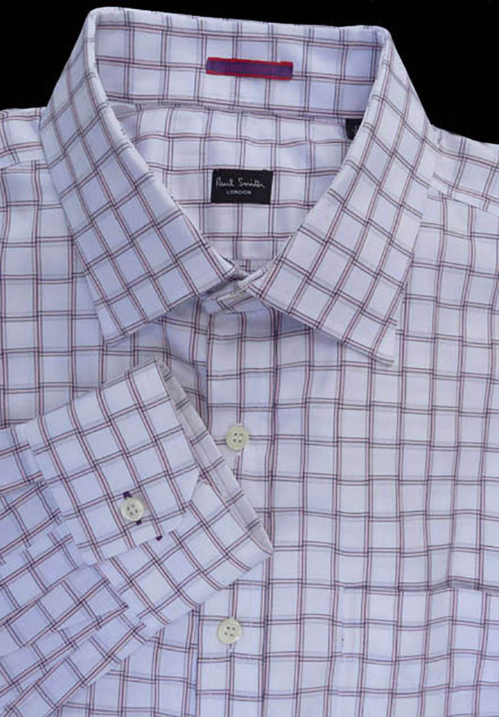 paul smith dress shirt squares checks Neck 17 cotton LS