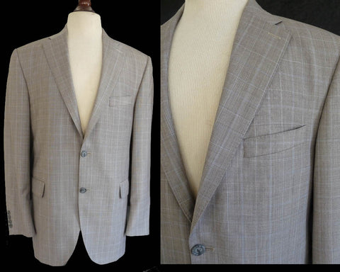 peter millar suit gray plaid