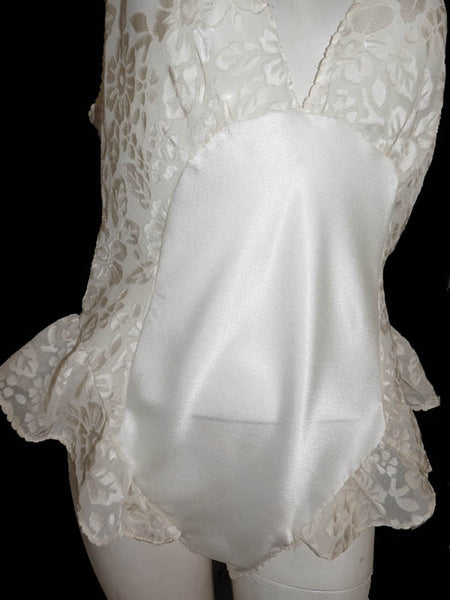 Ralph Montenero Lingerie Blance L Saks Fifth Ave  Teddy NWT Vintage 1980s