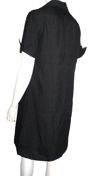 Richard Tyler collections Silk Dress Size 6 Black short Sleeves Sheath shift