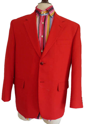 san tropez mens red vintage suit