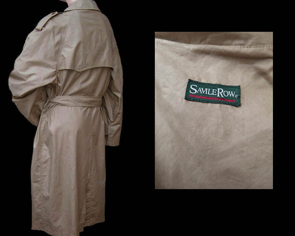 Saville Row 40 S Trench Coat Vintage Outerwear light weight