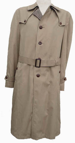 SILVER CLOUD TRENCH COAT 42 long