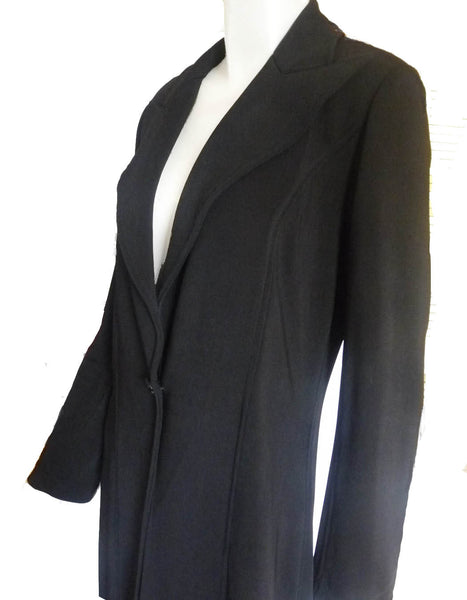 Vintage Tadashi Maxi Black coat XS Long sleeves