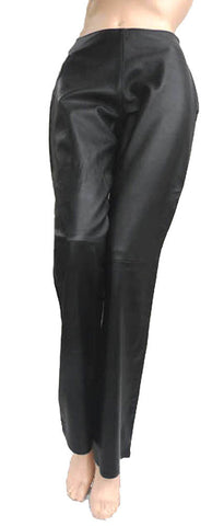 verapelle black leather pants waist 28 m