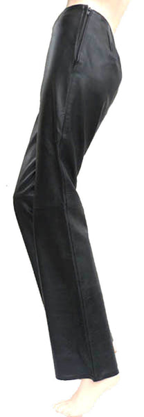 VERA PELLE black leather slacks pants Size Euro 42  US Waist 28