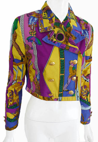 Gianni Versace circus print cropped jacket
