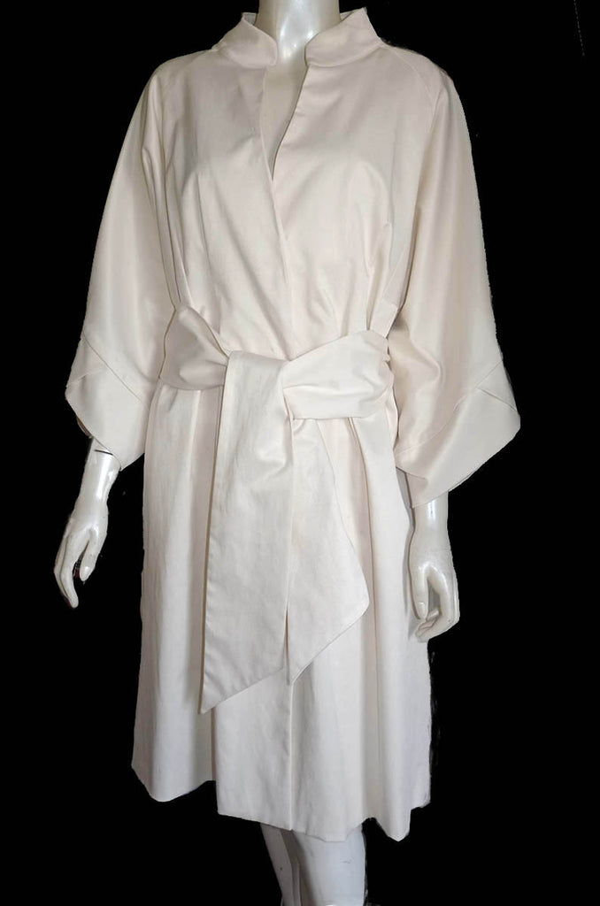 vertigo trench coat new cream off white xl
