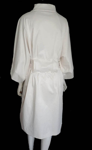 Vertigo Trench Coat XL Belted w Pockets NWOT 3 quarter sleeves Knee length