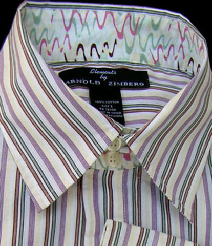 arnold zimberg stripe shirt 17.5 long sleeves